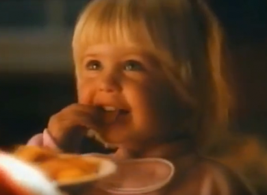 A scene from the Kellogg's ad.