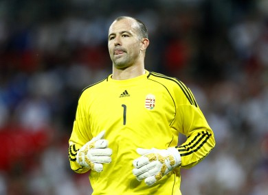 Gabor Kiraly (file) put in a big performance for Hungary this evening.