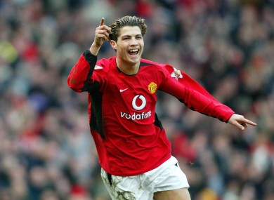 Years Ago Today A Skinny Portuguese Teenager Scored His First Goal For Man United