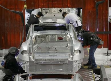A Tesla factory in California, where Farada Future could open a similar facility