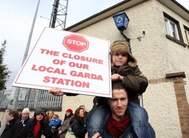 Protest at Stepaside Garda Station in Dublin in 2013.