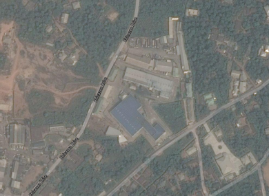 A satellite view of the facility.