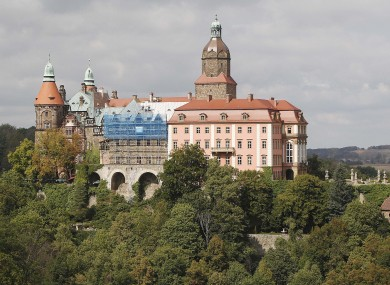Ksiaz Castle in Walbrzych where two explorers found the secret tunnel that hid a wartime armoured train.