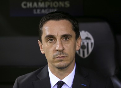 Neville's side earned a point in his first La Liga game in charge.