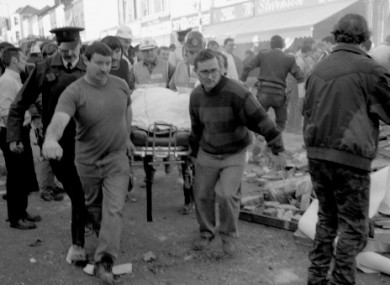 The scene after the 1993 Shankill Road bombing