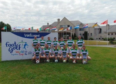 The Irish FootGolf team pictured in Buenos Aires ahead of the World Cup earlier this month.