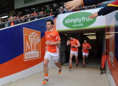 Jamie Clarke runs out for the second-half of Armagh's qualifier against Galway last year.