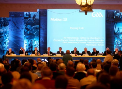 Delegates vote at last year's Congress in the Slieve Russell Hotel in Cavan.