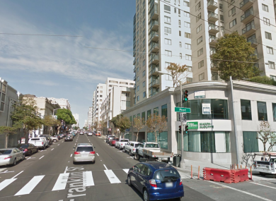 Franklin and Post Streets in San Francisco
