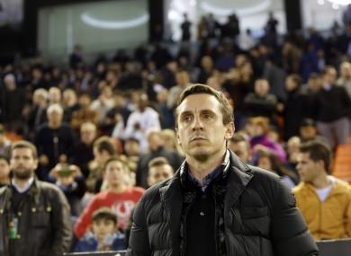 Valencia boss Gary Neville.
