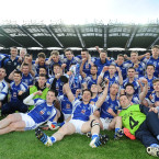 Templenoe players celebrate winning the All-Ireland Junior Club Championship Final.<span class=