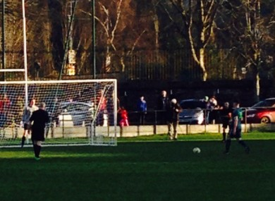 The penalty shootout between UCC and Maynooth.