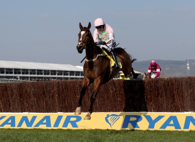 Vautour en route to a stunning Ryanair Chase win.