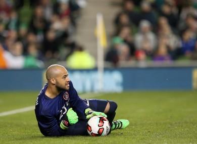 Ireland's Darren Randolph replaced the injured Rob Elliot in goals tonight.