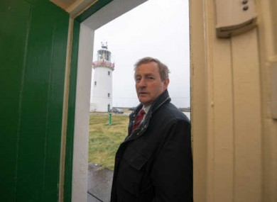 Enda Kenny on a visit to Loop Head lighthouse before the election