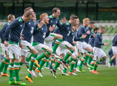 Republic of Ireland Squad Training earlier today.