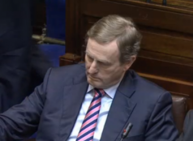 Enda Kenny in the Dáil this afternoon