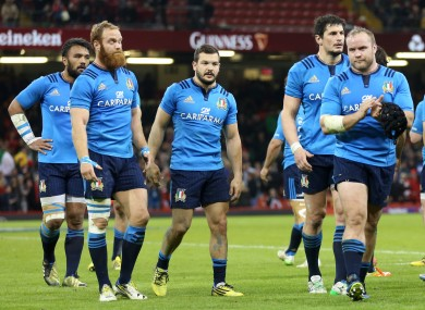 Italy: Heavy defeats saw them collect a second wooden spoon in three seasons.