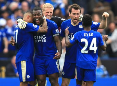 Leicester need just three more points to win the Premier League.