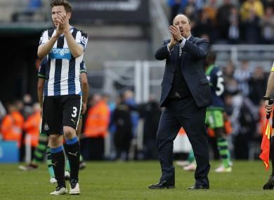 Benitez celebrates victory.