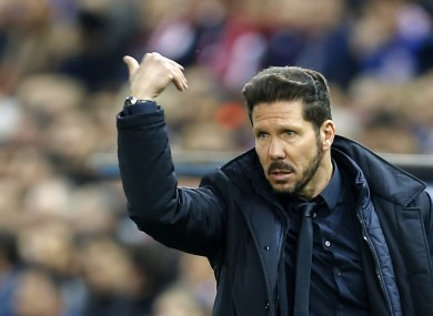 Atletico Madrid boss Diego Simeone.