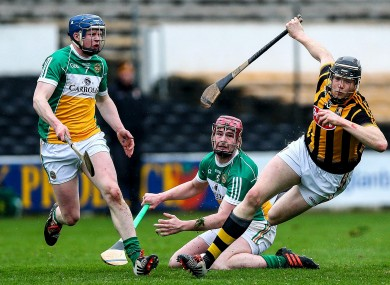 Walter Walsh in action today for Kilkenny against Offaly.