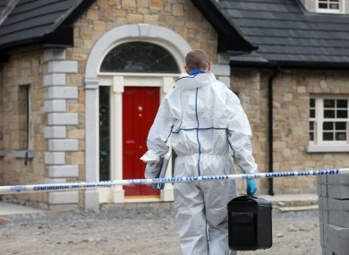 A member of the Garda Technical Bureau at the scene of the fatal shooting in 2014.