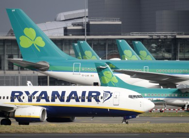 Aer Lingus and Ryanair have both grounded flights.
