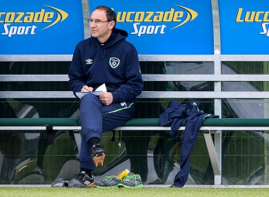 Taking notes: O'Neill at the FAI's National Training Centre.
