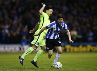 Towell in action against Sheffield Wednesday.