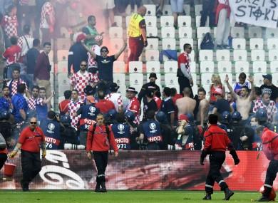 Croatia fans in Saint-Etienne