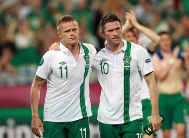 Duff and Keane after Ireland's exit from Euro 2012