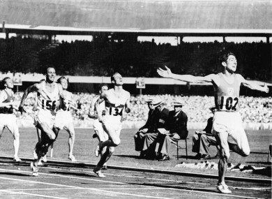 Ronnie Delany on his way to taking Olympic gold.