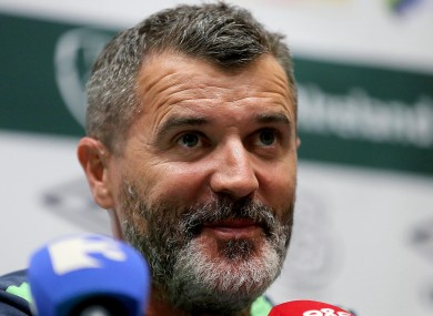 Keane speaking at FAI headquarters.