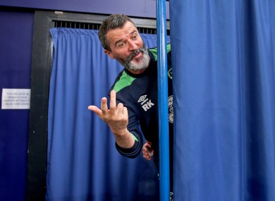 Keane at the end of today's press conference.