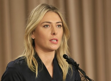 Sharapova revealed she failed the drugs test in March.