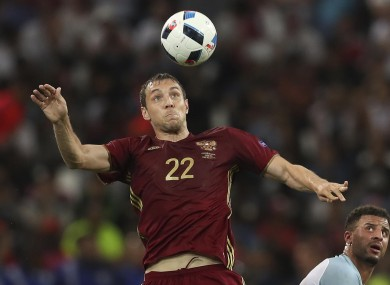 Russia's Artem Dzyubahas criticised English fans in the wake of their behaviour.