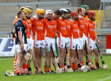 The Armagh senior hurling team (file pic).