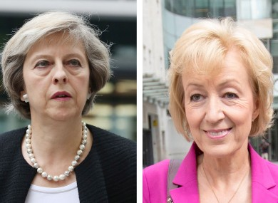 [L-R] Theresa May and Andrea Leadsom