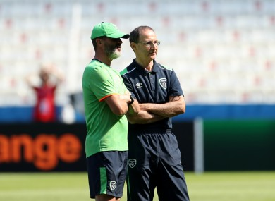 Roy Keane and Martin O'Neill.