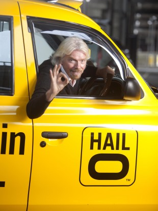 Businessman Richard Branson, who has invested in Hailo