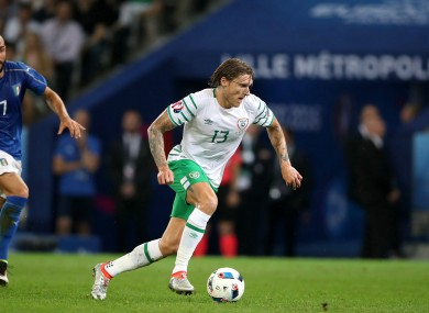 Jeff Hendrick was one of Ireland's standout players at Euro 2016.