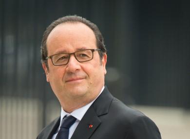 French President Francois Hollande pictured last week