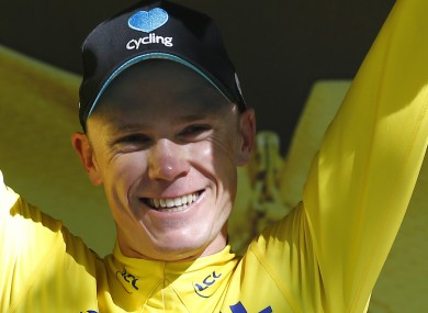 Chris Froome is currently leading the Tour de France.