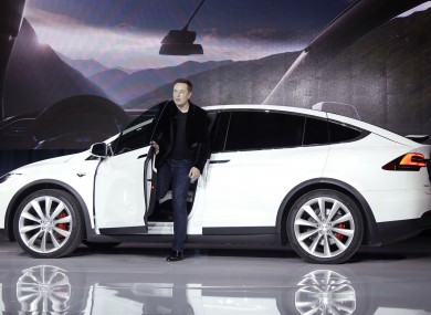 Tesla CEO Elon Musk announcing the Model X car, which came with autopilot features, last year.