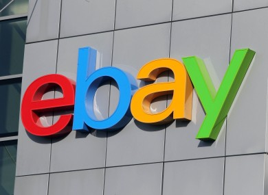 A sign from the eBay headquarters in Blanchardstown in Dublin.