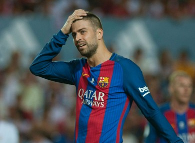 Barcelona defender Gerard Pique.