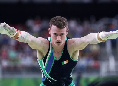 Kieran Behan pictured competing in Rio on Saturday night.