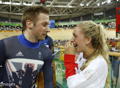 Laura Trott Congratulates Fiancé Jason Kenny After His Keirin Win