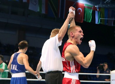 Niktin, right, and Conlan met in the 2013 World Championship quarter-finals, the Russian taking a unanimous decision.